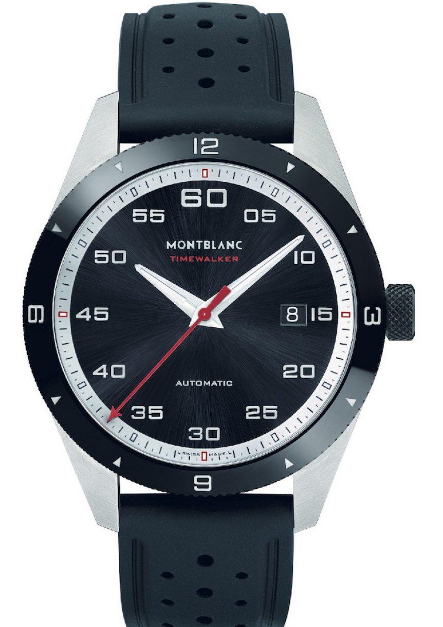 萬寶龍TimeWalker時光行者系列日期顯示自動腕錶,參考售價:NTD 103,400。