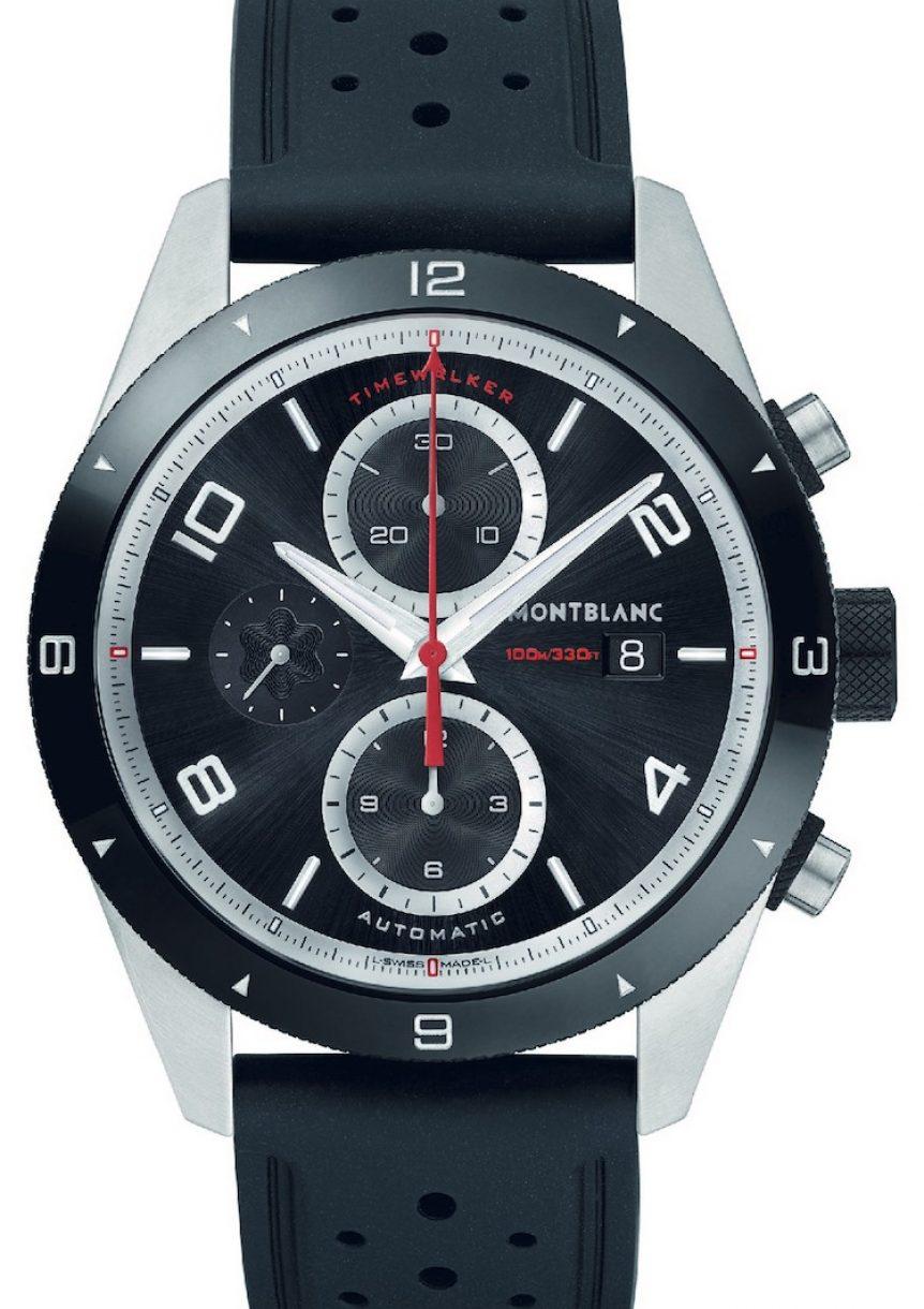 萬寶龍TimeWalker時光行者系列自動計時腕錶,參考售價:NTD 138,000。