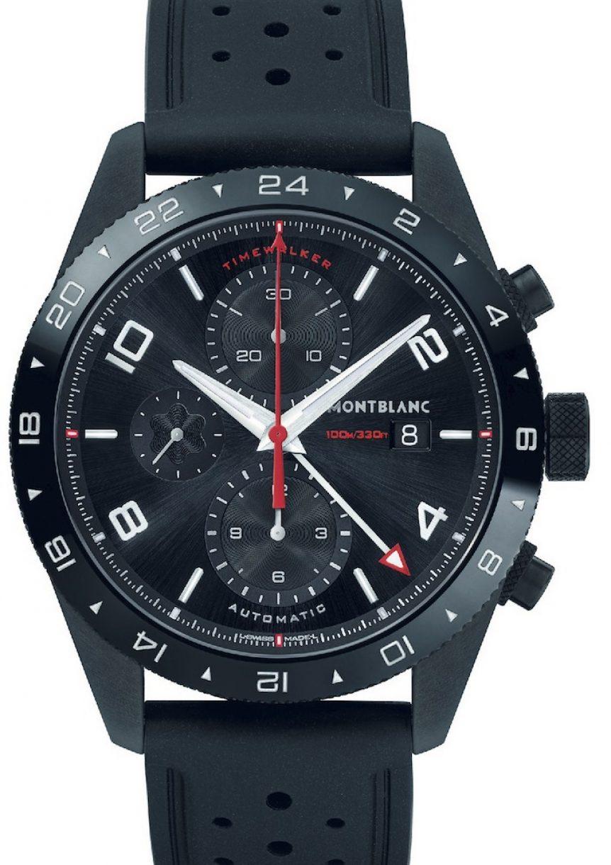 萬寶龍TimeWalker時光行者系列UTC多時區計時腕錶,參考售價:NTD 172,600。