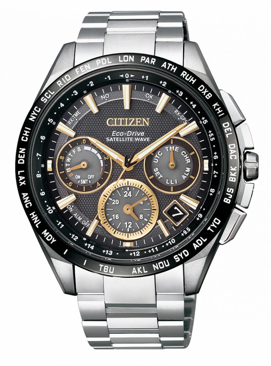 CC9015-54F,光動能GPS衛星對時腕錶,參考售價:NTD 69,800 (亞洲限定款)。