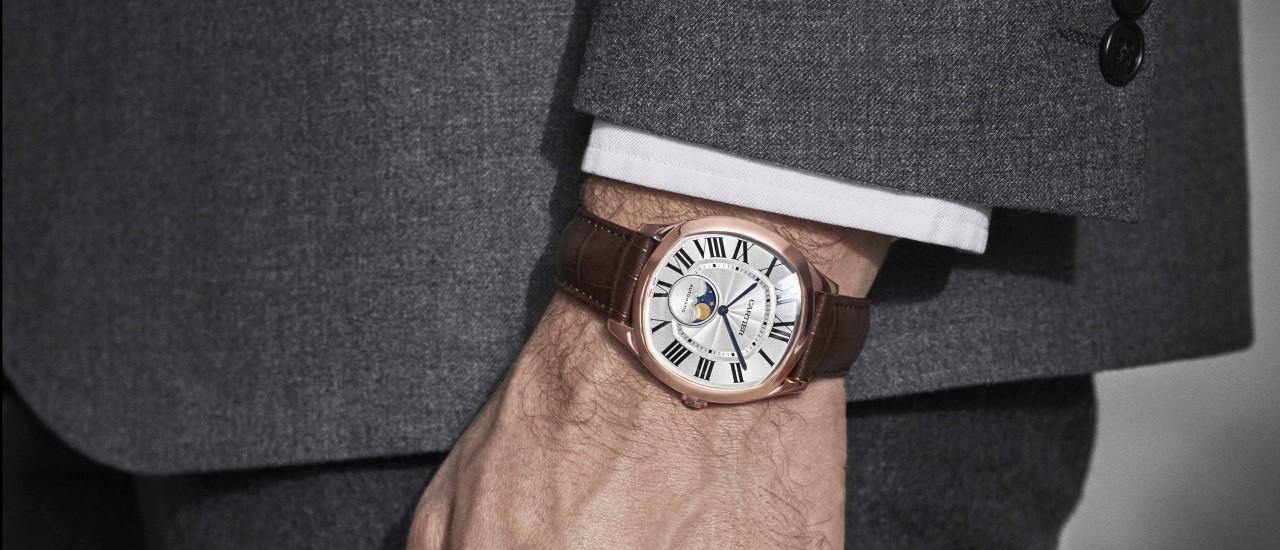 卡地亞Drive de Cartier月相腕錶與超薄腕錶