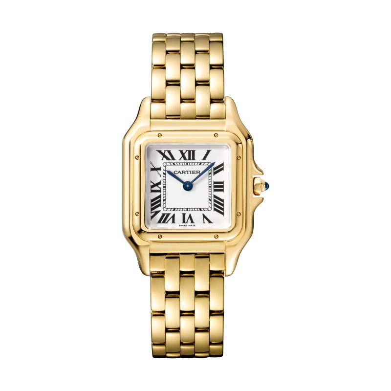 Panthère de Cartier美洲豹黃K金腕錶,中型款,參考價格約NTD 710,000