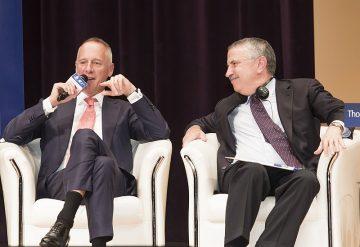 世界趨勢大師湯馬斯.佛里曼與朗格全球總裁Wilhelm Schmid討論未來發展趨勢