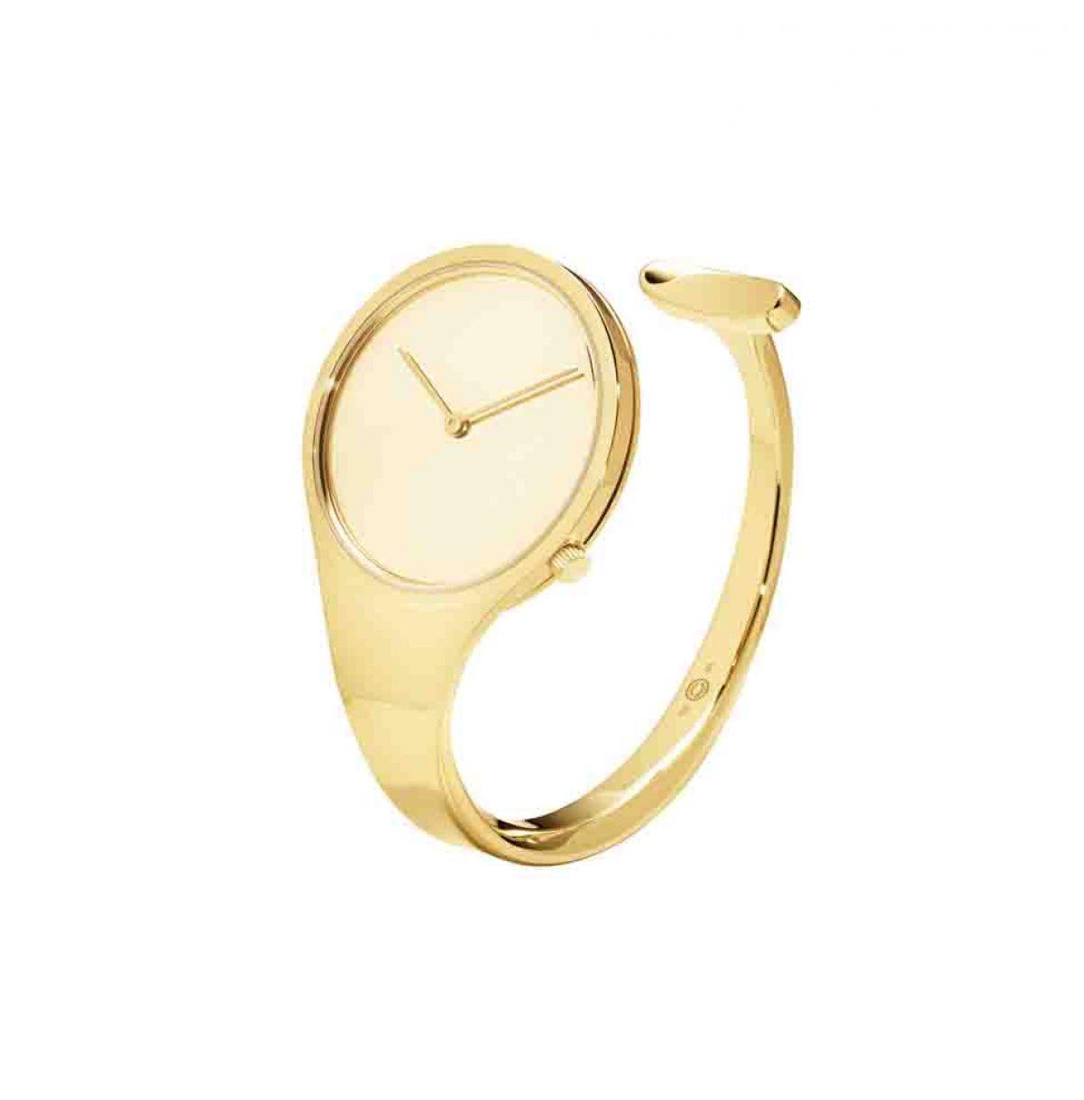 GEORG JENSEN VIVIANNA 18K黃金手鐲錶,參考售價NTD 504,600起。