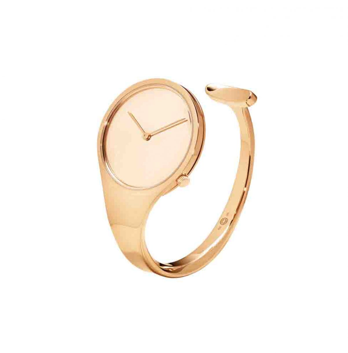 GEORG JENSEN VIVIANNA 18K玫瑰金手鐲錶,參考售價 NTD504,600起。
