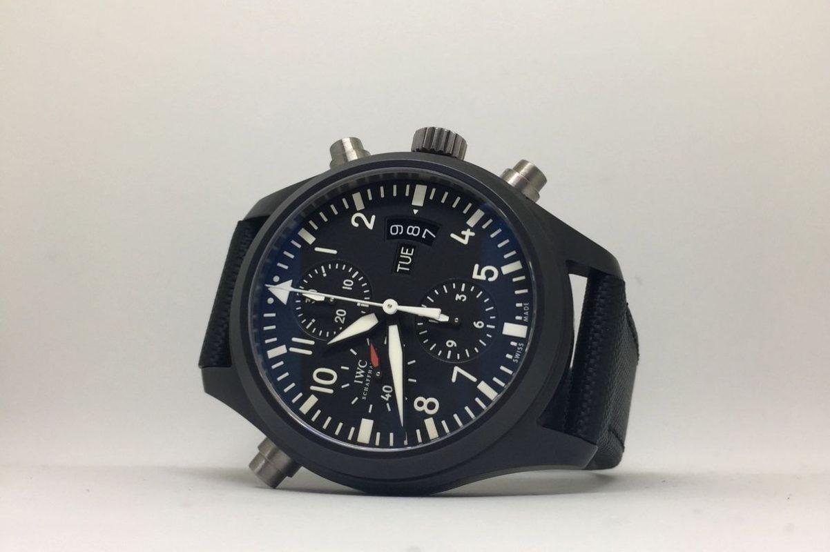型號IW378601的飛行員雙追針計時碼錶。