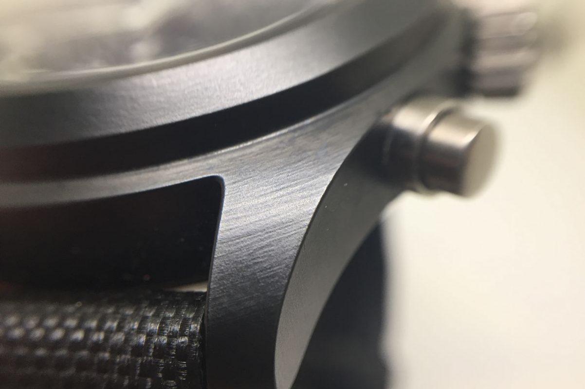 採用陶瓷錶殼,為IWC早期就開始研發的技術。