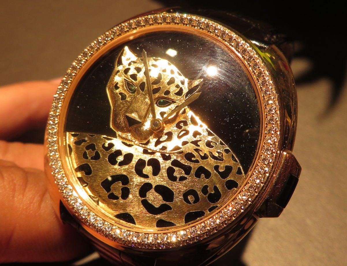 Clé de Cartier美洲豹黃金腕錶