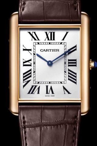 <strong>TANK腕錶的卓越設計—分鐘軌</strong><br>錶盤上顯示分鐘刻度的雙線設計稱為「分鐘軌」。其圖案令人聯想起鐵路軌道。作為真正的卡地亞標誌性設計,分鐘軌一直出現於TANK腕錶的錶盤之上。