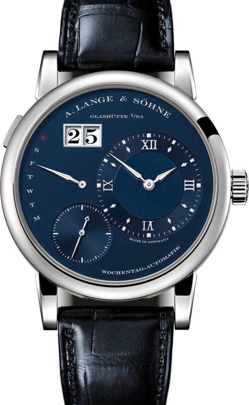 Lange 1 Daymatic藍色系列