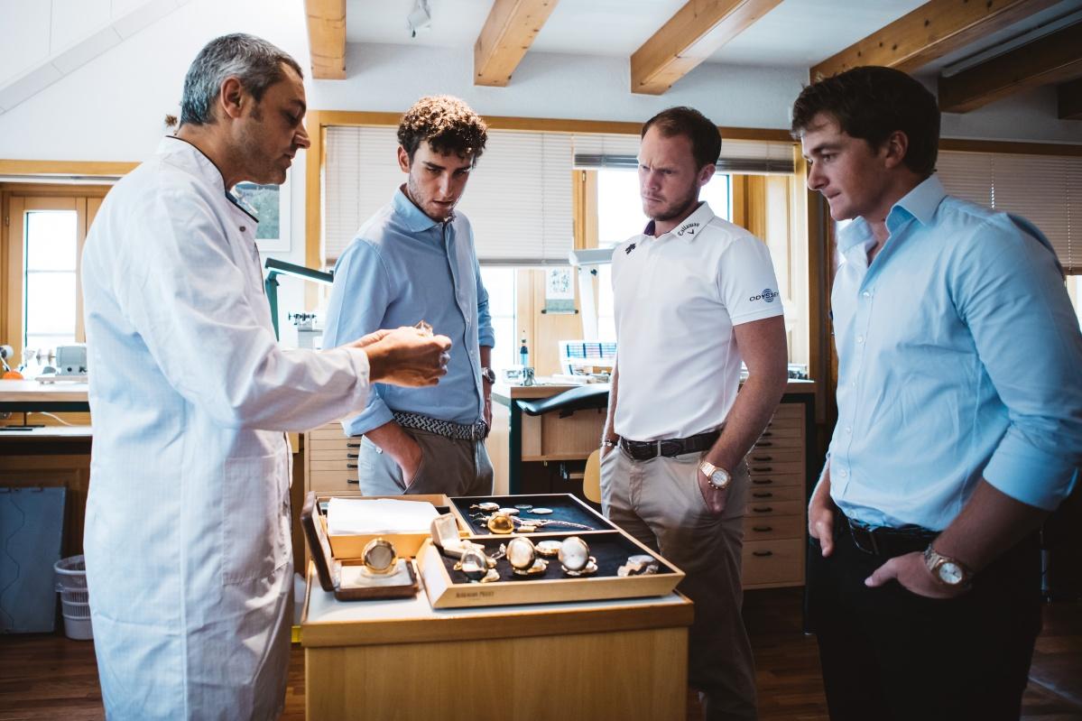 三名愛彼高爾夫大使造訪布拉蘇絲製錶廠