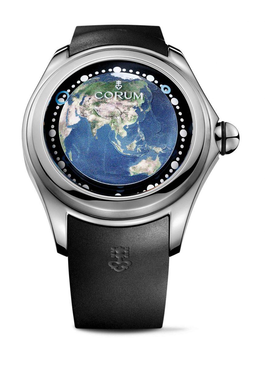 CORUM Big Bubble Earth Asia腕錶,參考售價 NTD 227,000
