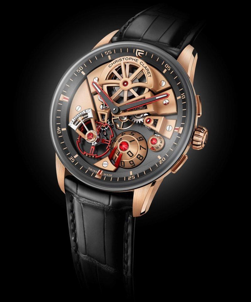 Christophe Claret Maestro玫瑰金腕錶,建議售價NT$2,880,000。