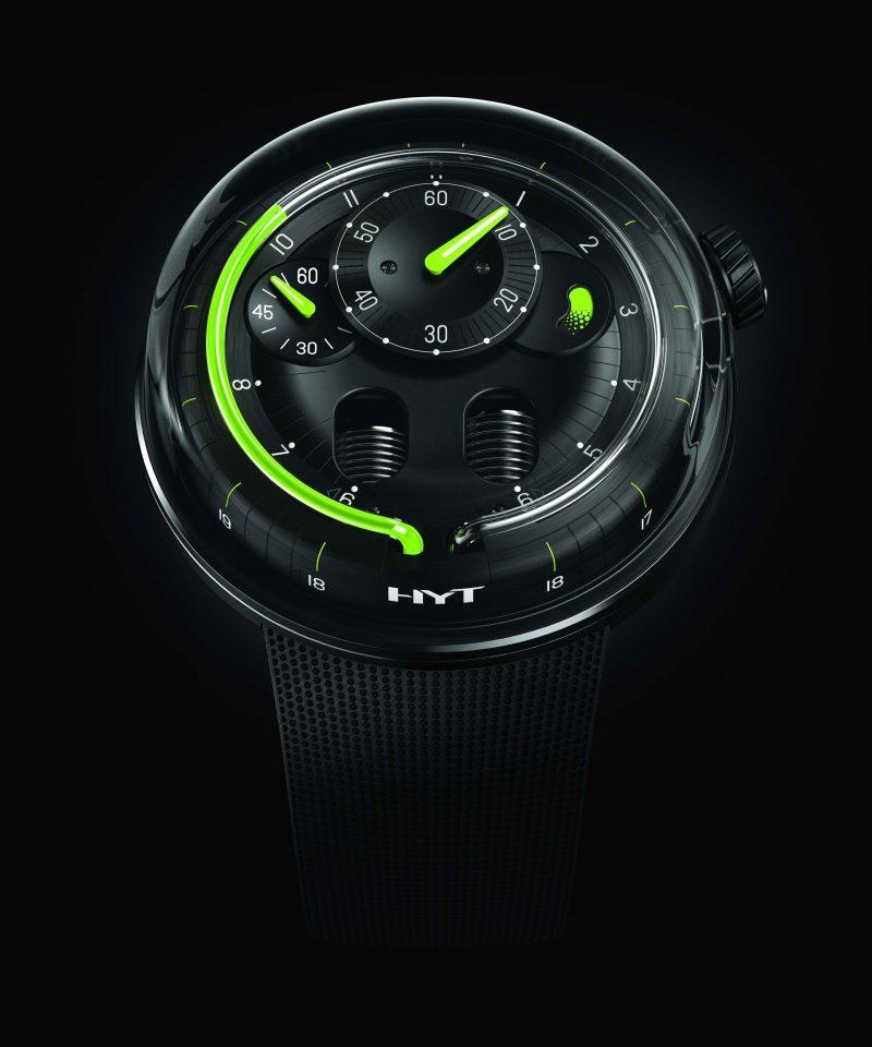 HYT H0 Black液壓顯示腕錶,建議售價NT$1,380,000。