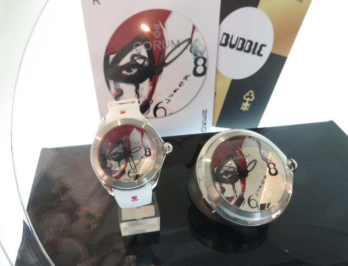 Bubble Joker 泡泡腕錶與同一主題的泡泡座鐘,是發表會上的話題焦點。