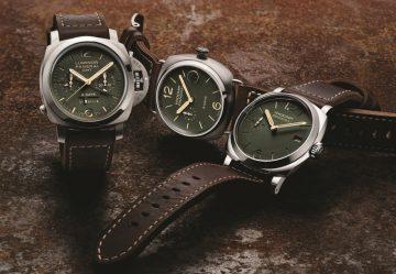 綠色錶盤:沛納海隆重呈獻PAM00735、736及737等三款全新腕錶,革新色彩組合,展現強烈的運動風格