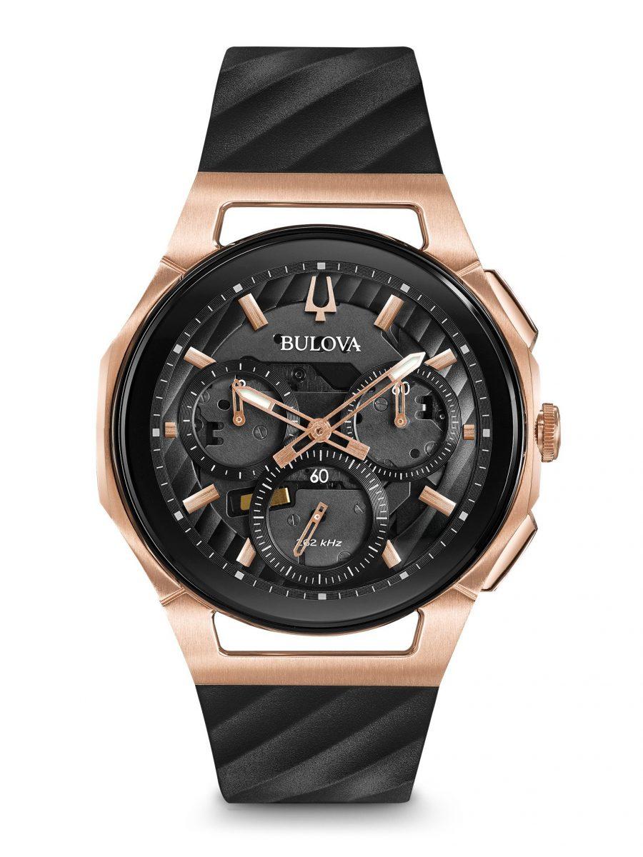 具有計時碼錶功能的CURV系列男裝腕錶,型號98A1858,參考售價 NTD 31,800。