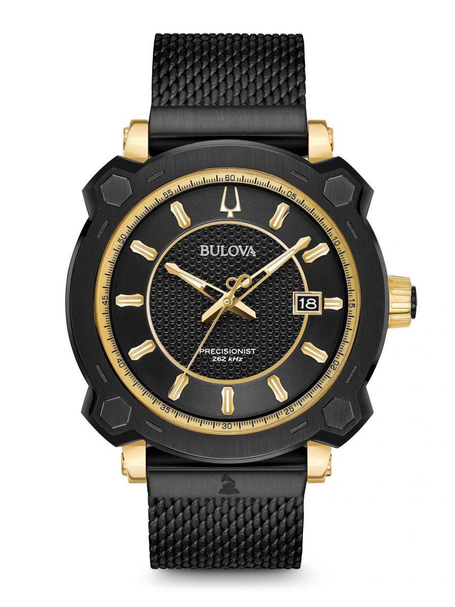 美式設計風格的葛萊美獎聯名款腕錶,型號98B303,參考售價 NTD 29,800。