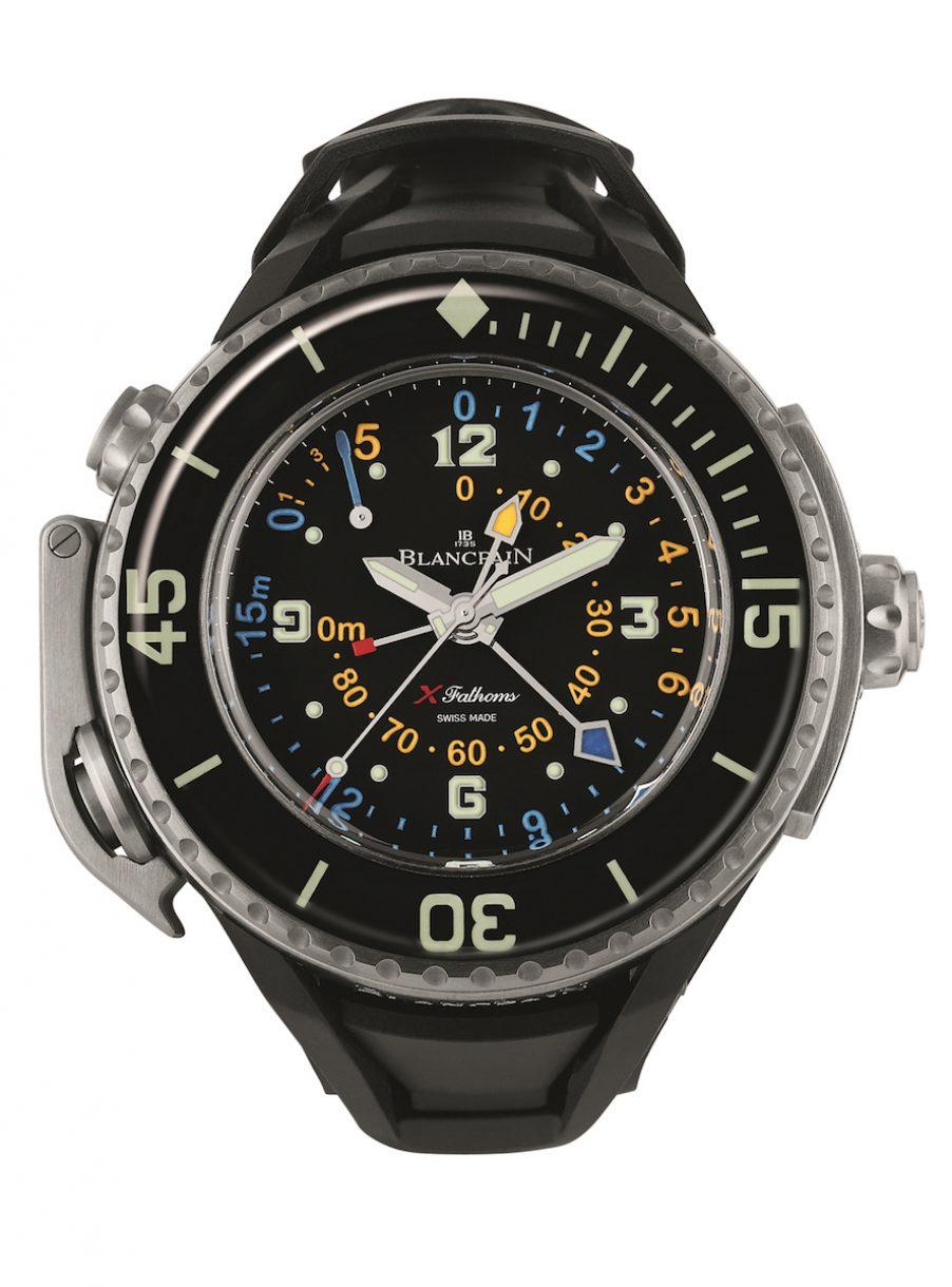 BLANCPAIN 寶鉑 X Fathoms頂級機械潛水錶,參考售價 NTD 1,296,000。