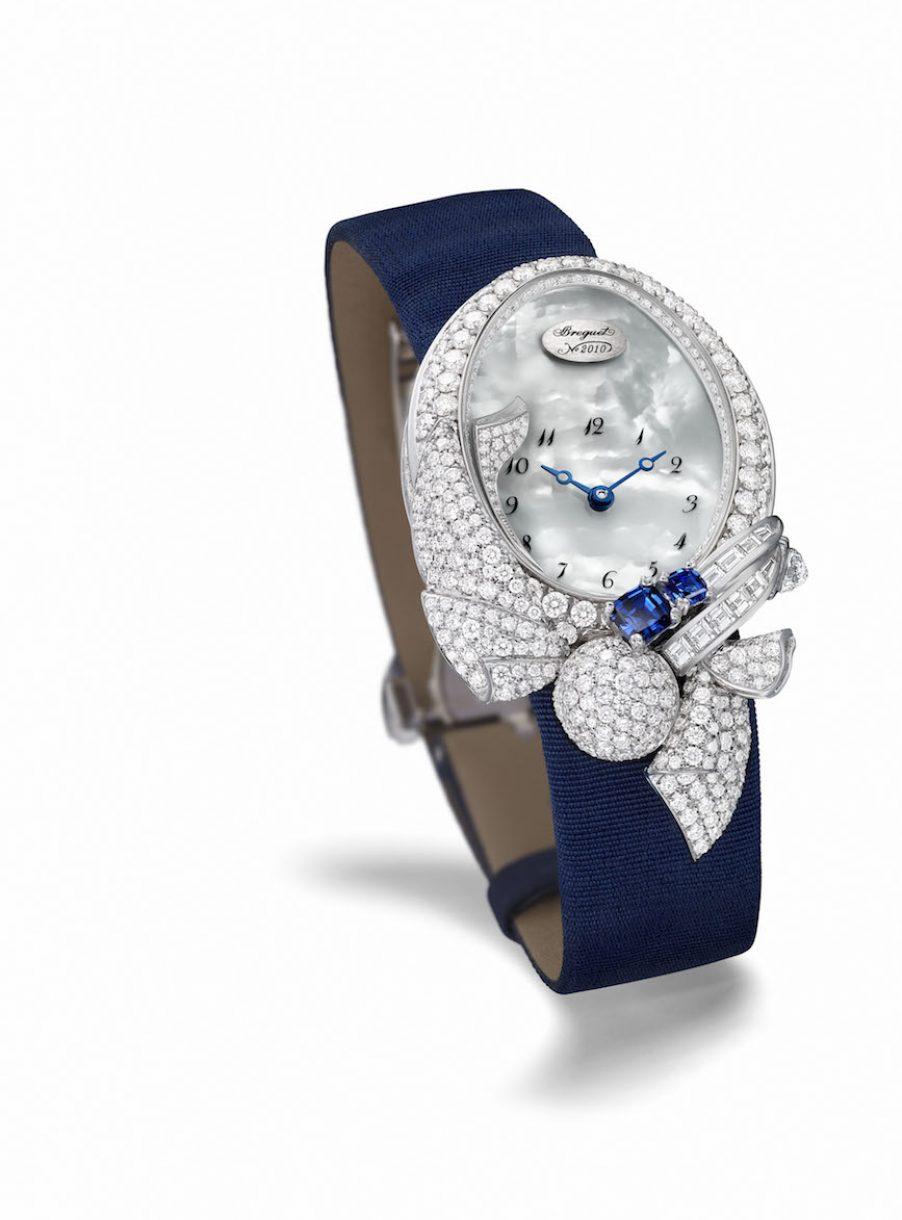 BREGUET 寶璣 Les Volants De La Reine GJ28那不勒斯皇后的霓裳高級珠寶錶,參考售價 NTD 4,129,000。