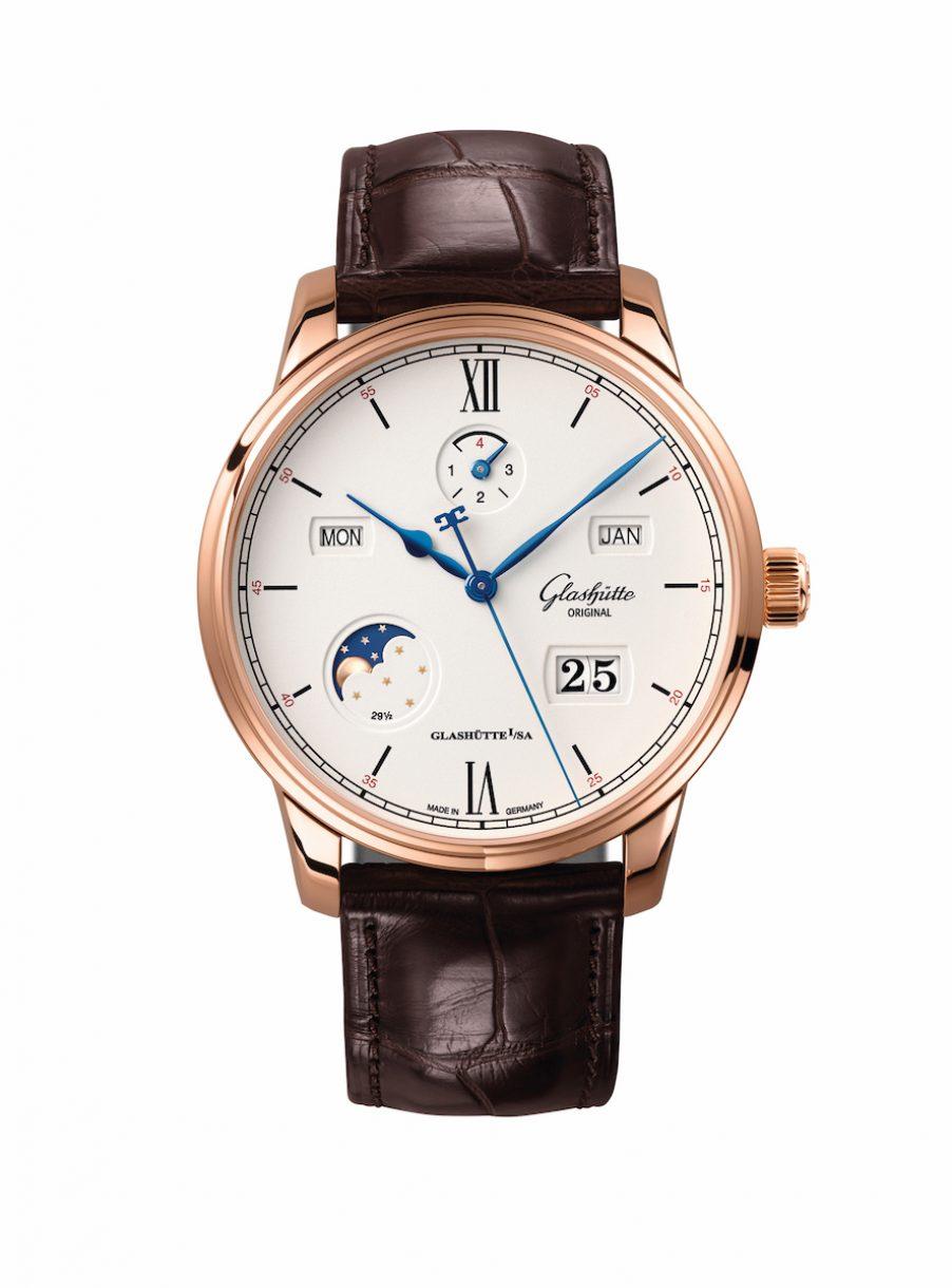 Glashutte Original Senator Excellence Perpetual Calendar萬年曆腕錶,參考售價 NTD 1,268,000。