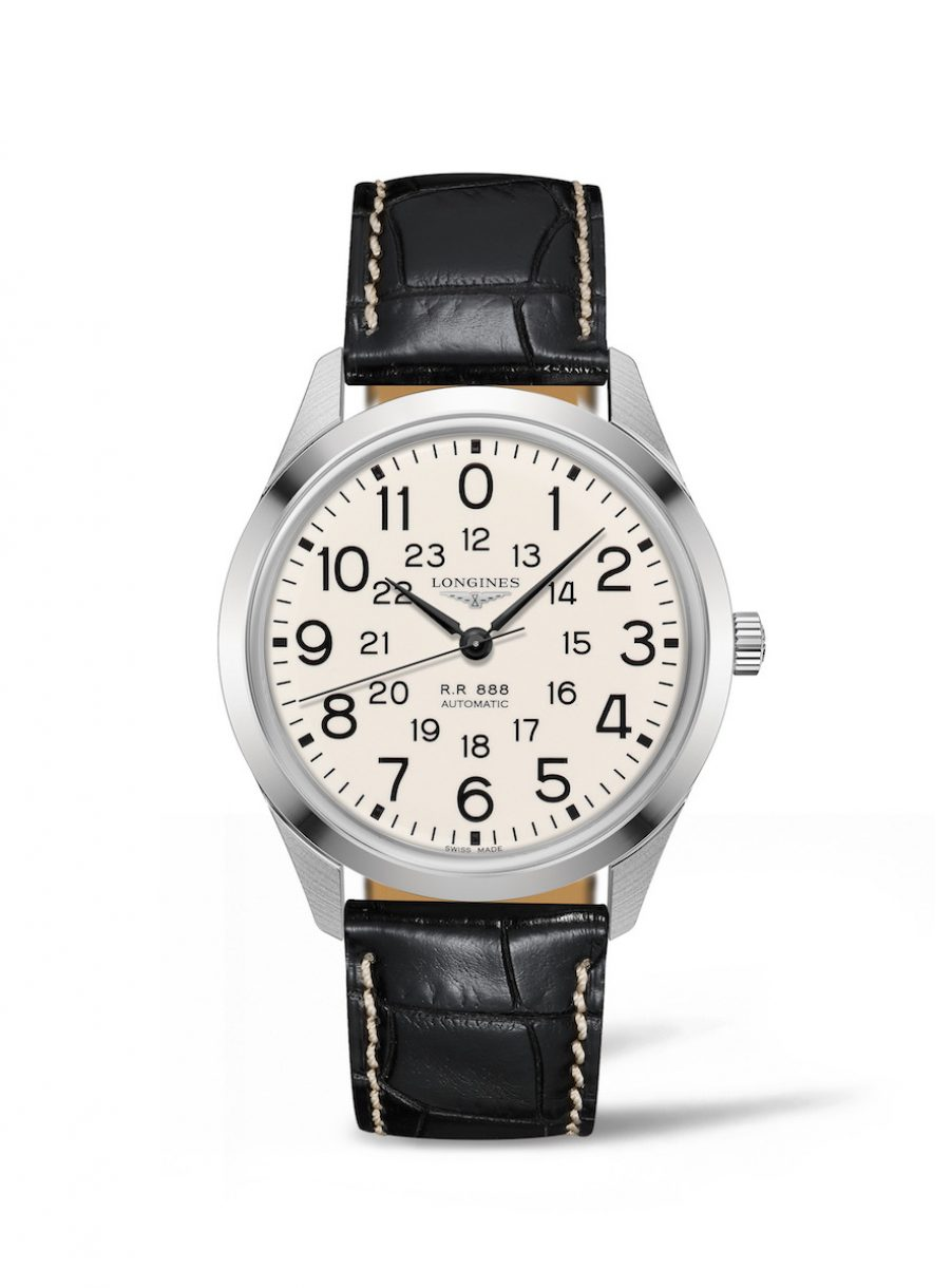 Longines 浪琴 復刻系列鐵路腕錶(L2.803.4.23.0),建議售價NTD58_800Longines 復刻系列鐵路腕錶(L2.803.4.23.0),參考售價 NTD 58,800。