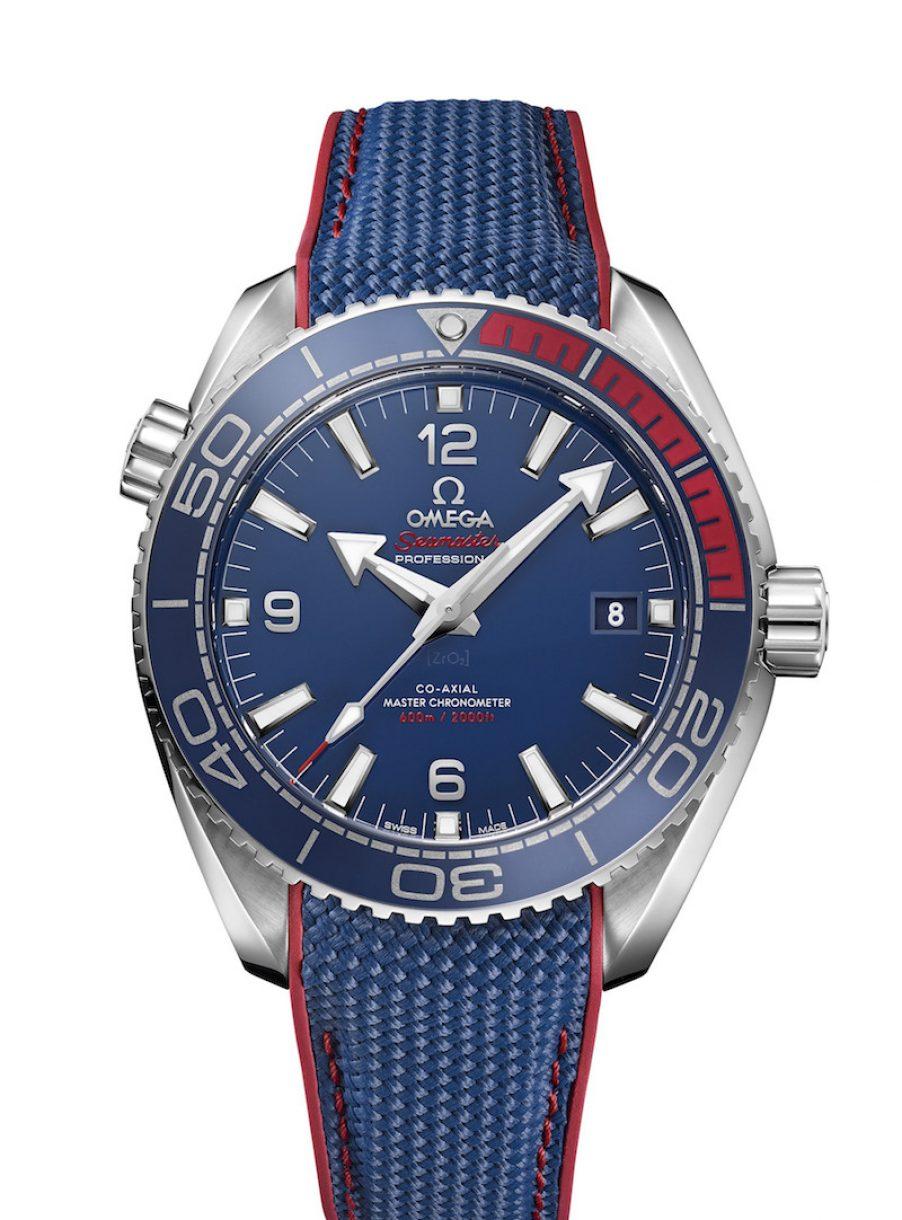 OMEGA 歐米茄 奧運系列Planet Ocean 600米大師天文臺「2018平昌奧運」限量腕錶 ,參考售價 NTD 226,100。