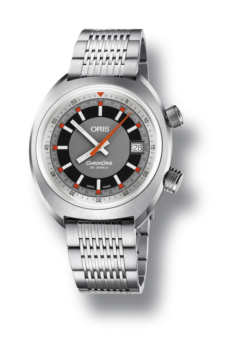 ORIS Chronoris 日期錶,參考售價 NTD 55,000。