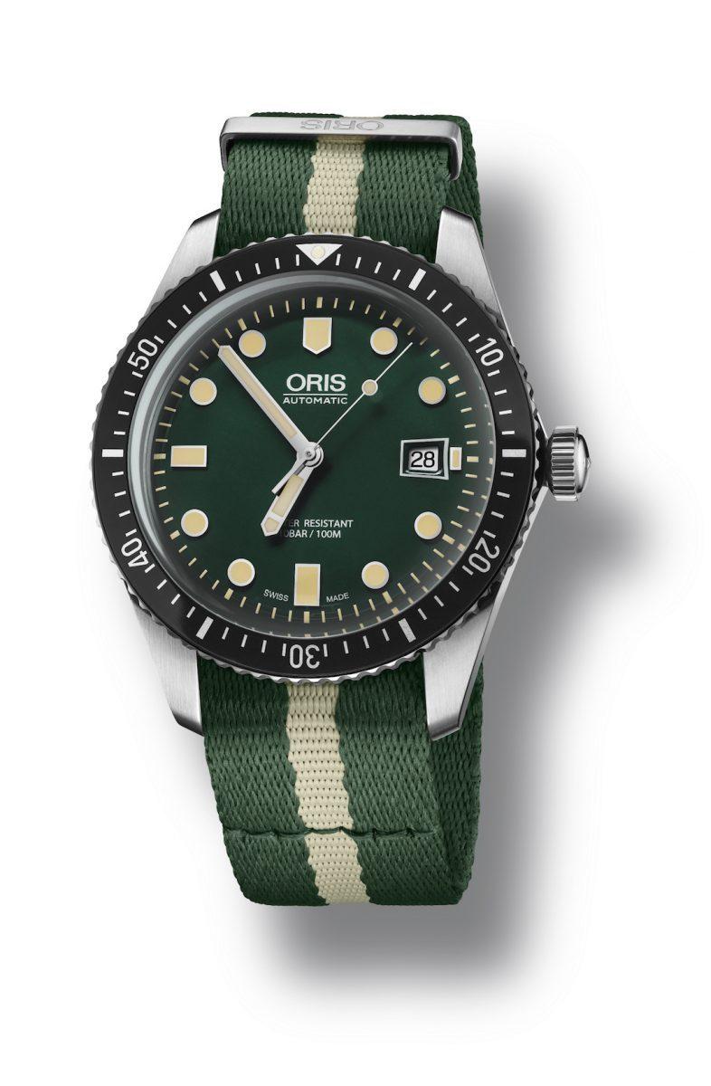 ORIS Divers Sixty-Five潛水錶(綠),參考售價 NTD 61,000。
