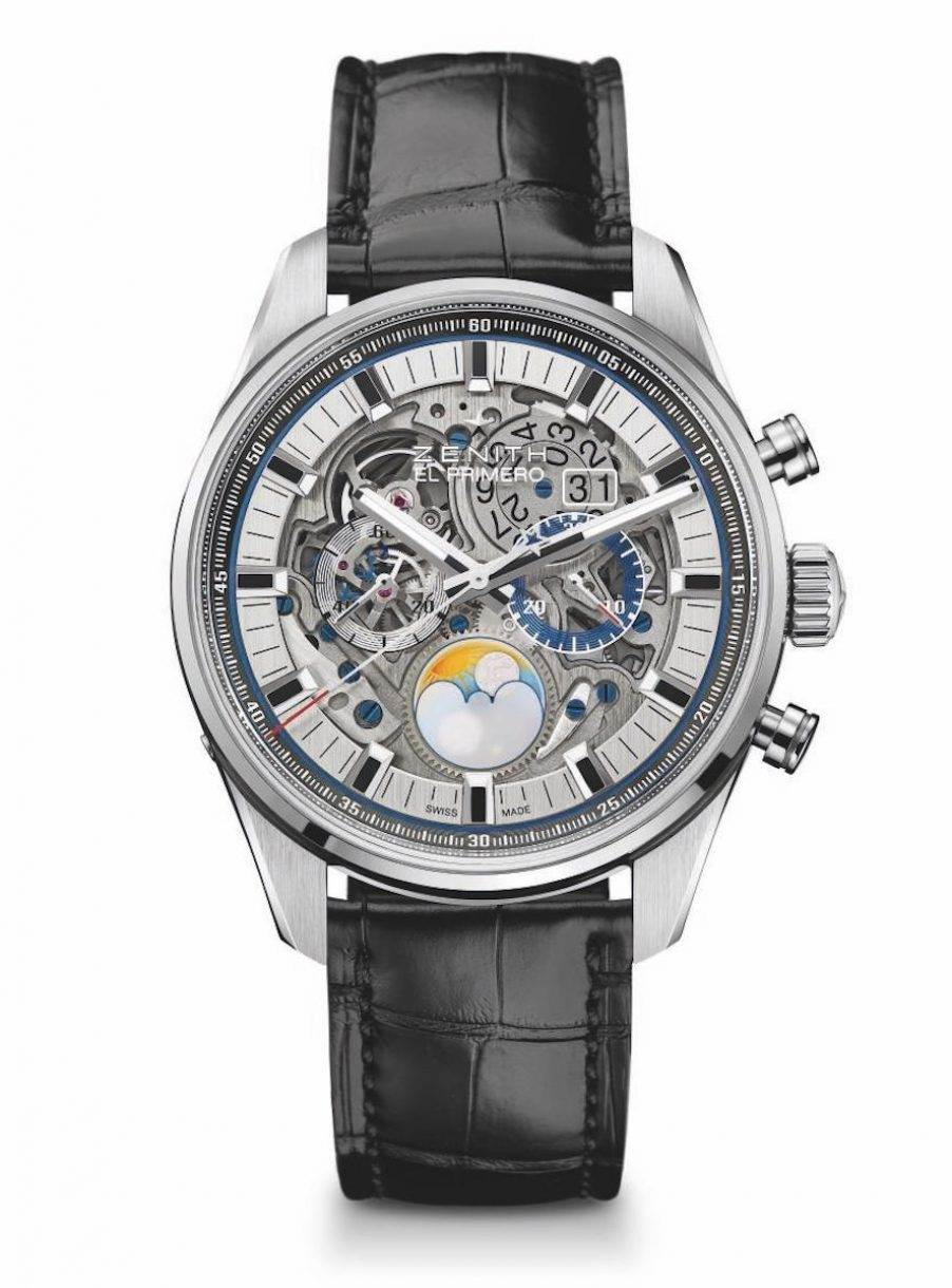 ZENITH 真力時 Chronomaster El Primero Grande Date Full Open 45毫米計時碼錶,參考售價 NTD 380,200。