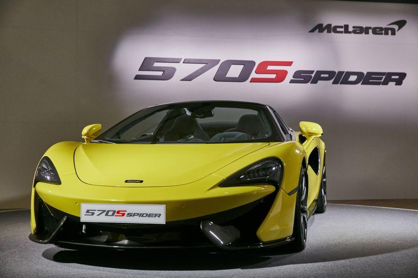 強悍敞篷超跑:McLaren 570S Spider