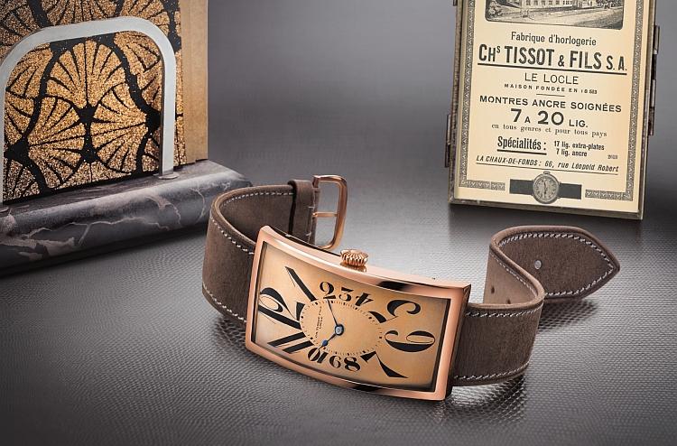 天梭表Heritage Prince香蕉腕錶一百週年紀念版跨時空登台
