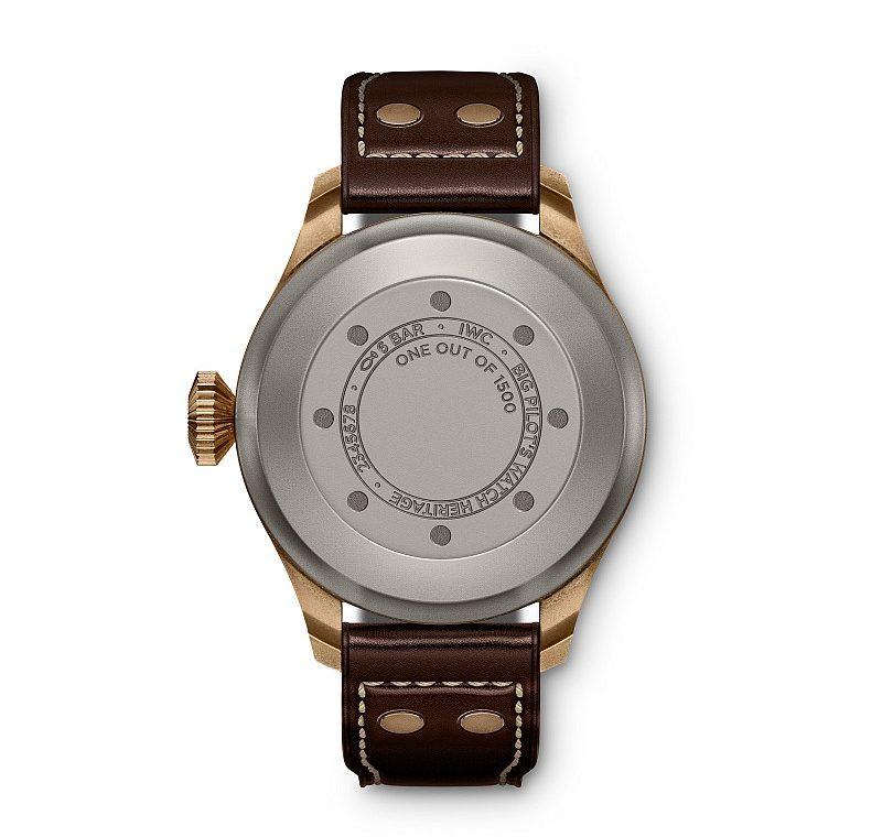 青銅大型飛行員傳承腕錶錶背