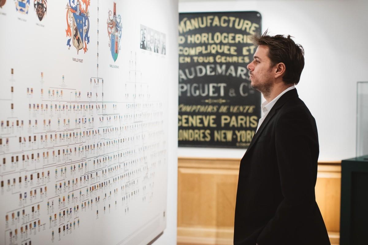網球名將斯坦.瓦林卡(Stan Wawrinka)造訪布拉蘇絲的愛彼錶廠