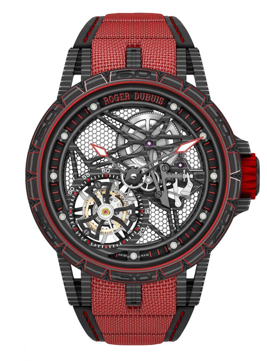 Excalibur Spider Carbon碳纖維鏤空飛行陀飛輪腕錶,限量88只,參考售價:NTD 6,150,000。