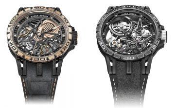【2018 PreSIHH】Roger Dubuis推出Excalibur Aventador S系列玫瑰金腕錶與Excalibur Spider Pirelli腕錶