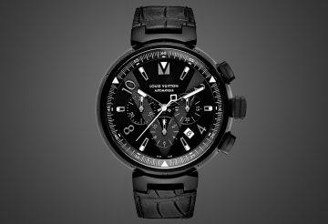 神秘的全黑魅力:路易威登Tambour All Black系列腕錶與桌鐘
