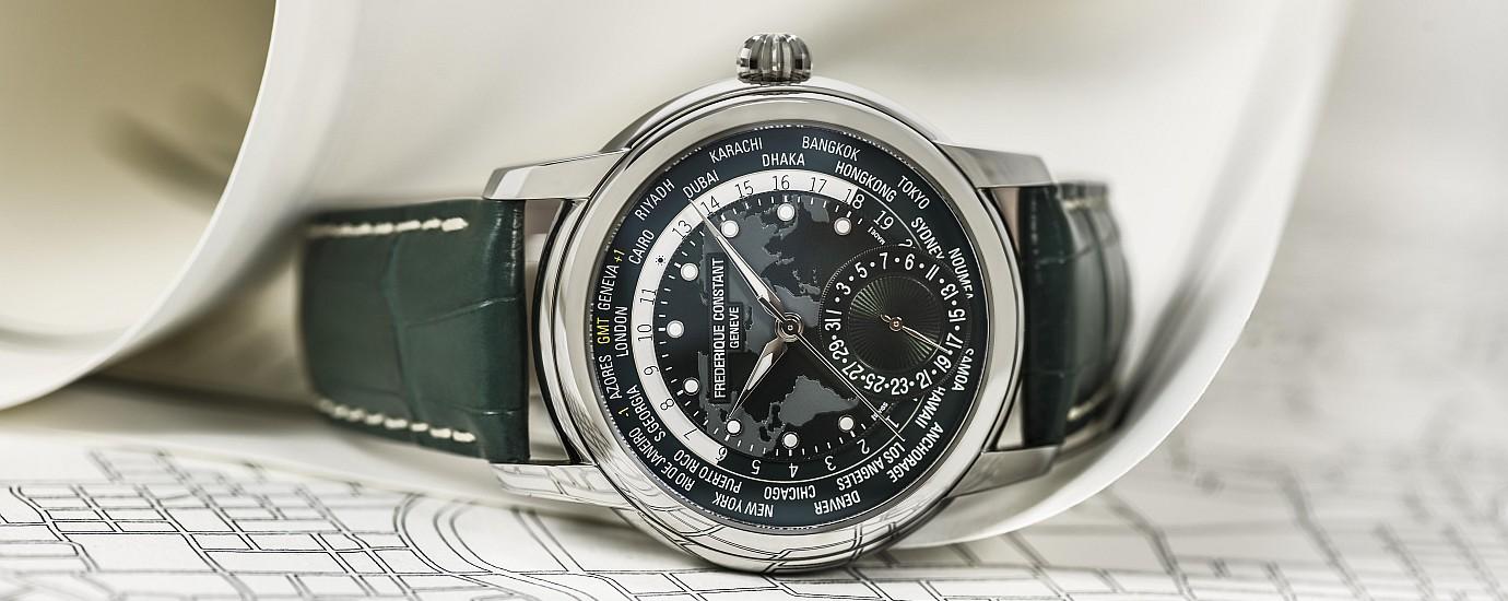 【2018年BASEL錶展預覽】Frederique Constant自製機芯經典世界時區腕錶