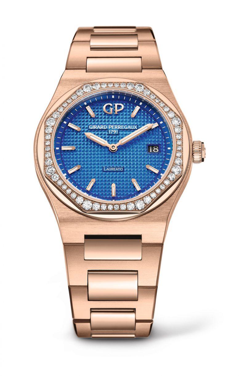 玫瑰金34mm Royalty限量版女裝腕錶
