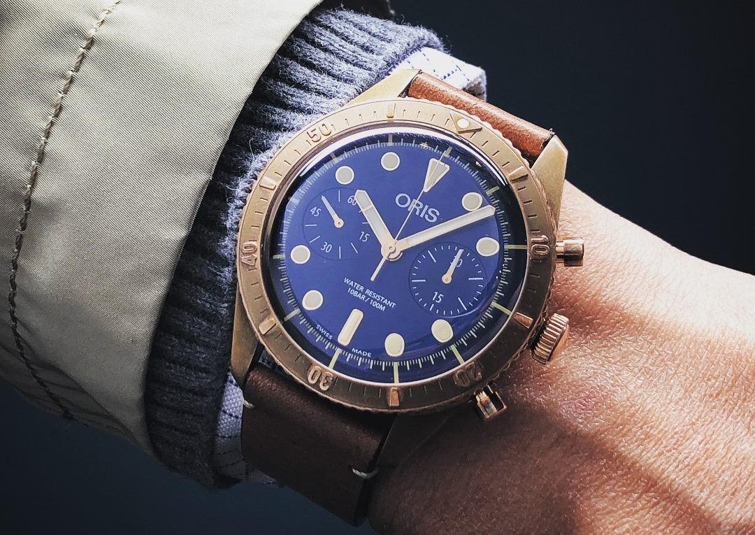 潛入美麗的銅綠世界:ORIS Carl Brashear青銅限量計時碼錶