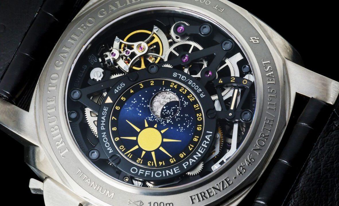 今年是沛納海第一次做月相錶,雖然做在錶背,卻很有特色。