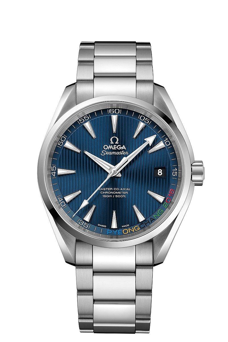 海馬系列Aqua Terra 「2018平昌奧運」限量腕錶,建議售價NTD192,700元