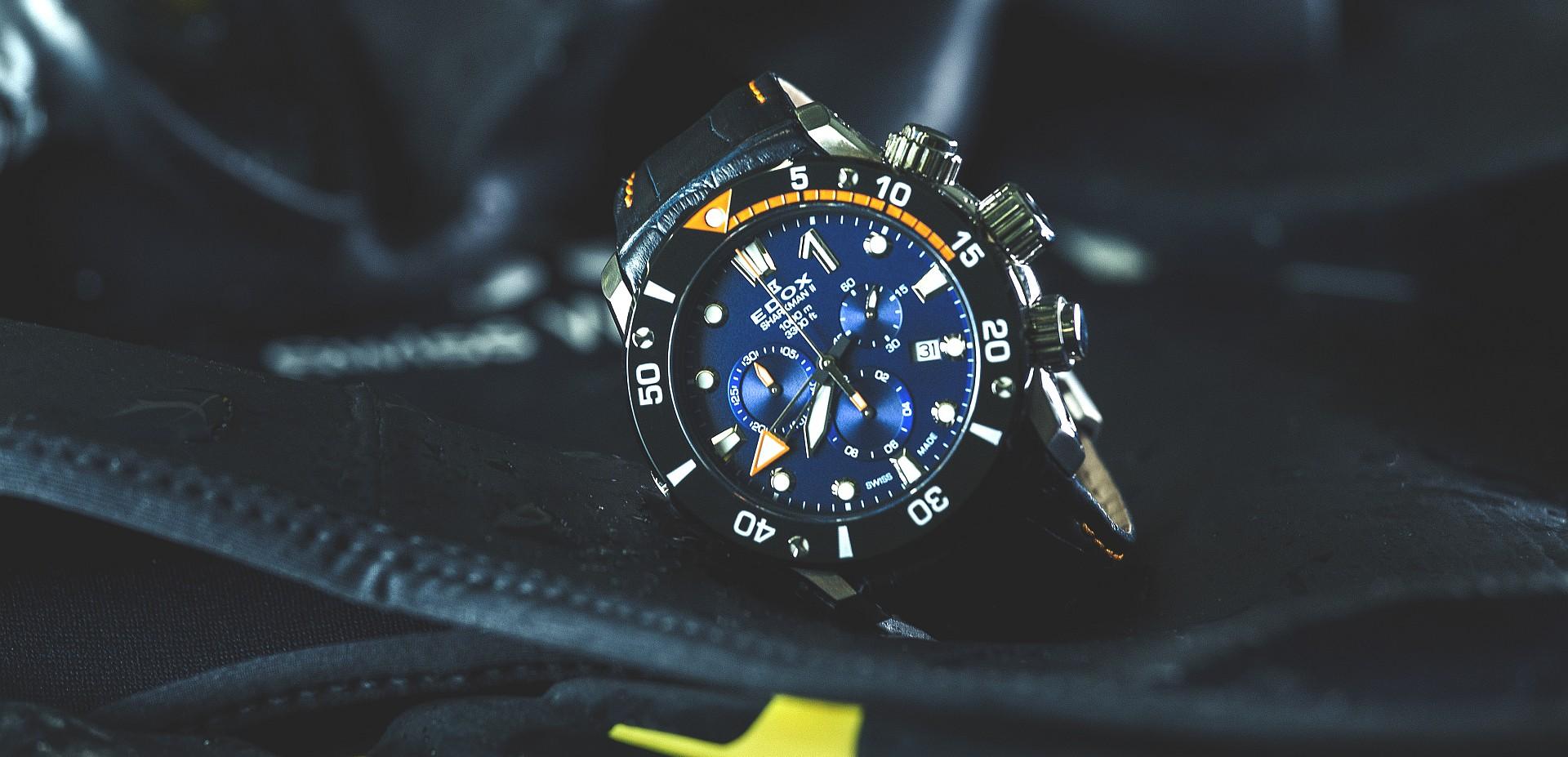 Edox Sharkman II腕錶將陪同冰人Christian Redl改寫冰下自由潛水新紀錄