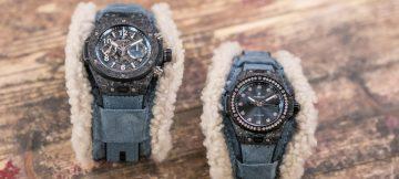 創新Frosted Carbon Fiber材質搭配奢華細緻羊絨錶帶:宇舶 BIG BANG ALPS碳晶纖維腕錶