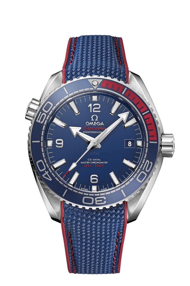 海馬系列Planet Ocean 600米大師天文台「2018平昌奧運」限量腕錶,建議售價NTD226,100元