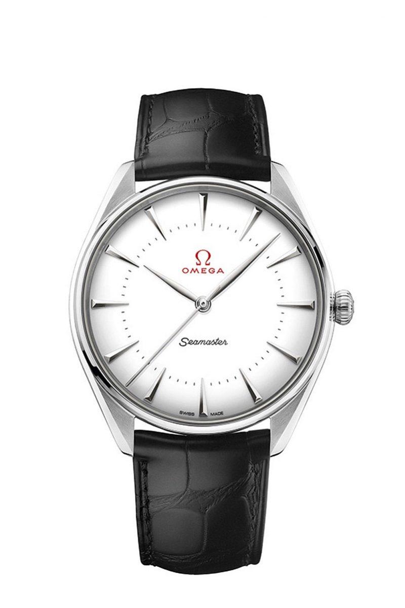 OMEGA 海馬系列黃金典藏奧運腕錶 18K Canopus™白金款式,建議售價NTD618,300