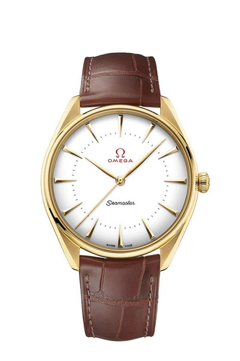 OMEGA 海馬系列黃金典藏奧運腕錶 18K金款式,建議售價NTD565,300