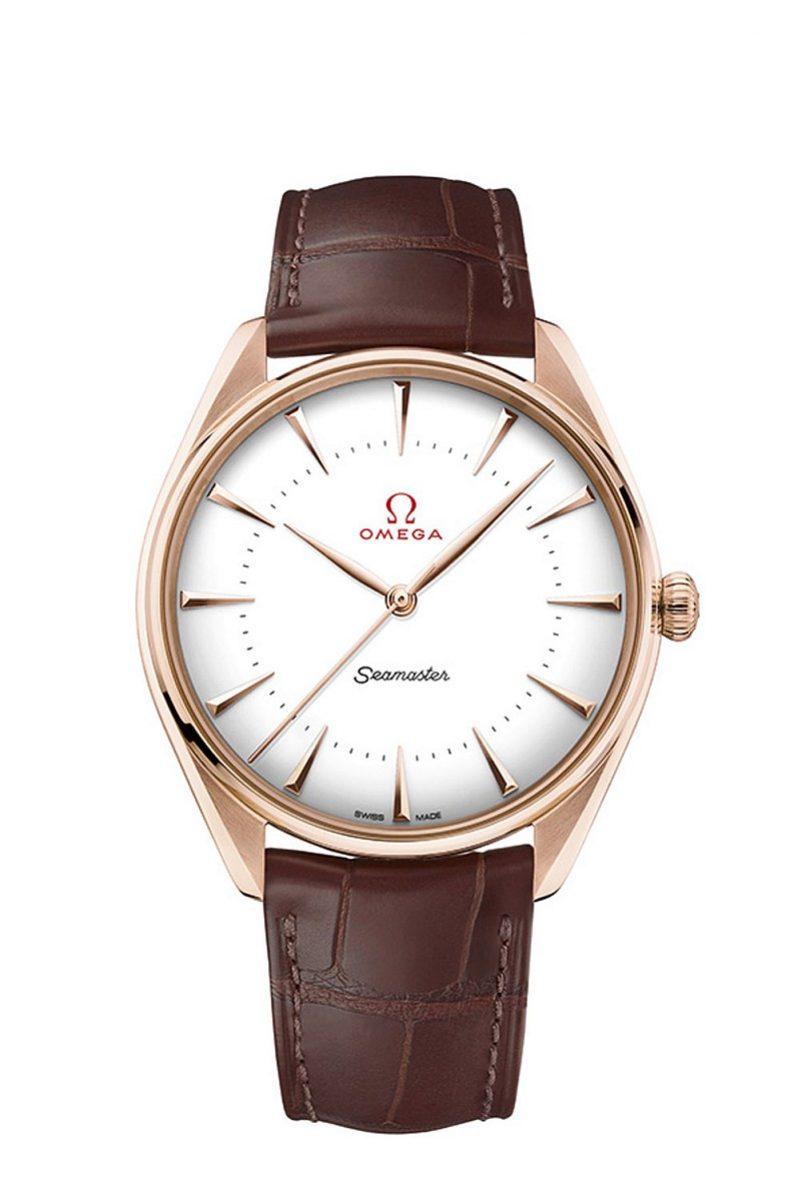 OMEGA 海馬系列黃金典藏奧運腕錶 18K Sedna™金款式,建議售價NTD565,300
