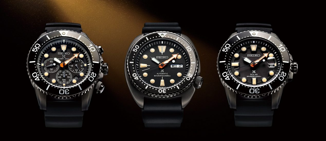 暗夜深海  蓄勢待發:Seiko Prospex「The Black Series」重磅登場