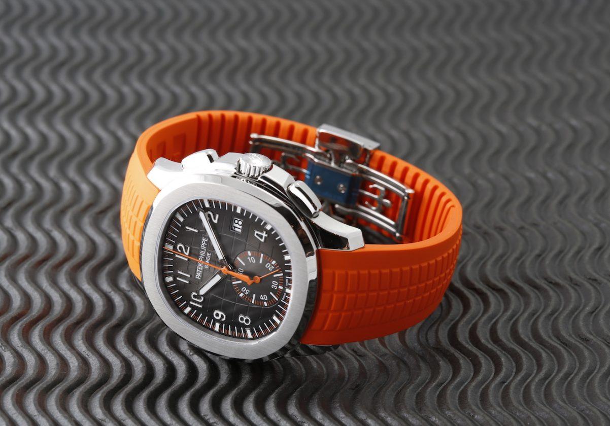 搭配PP前所未有的橘色橡膠錶帶,搶眼、驚艷。